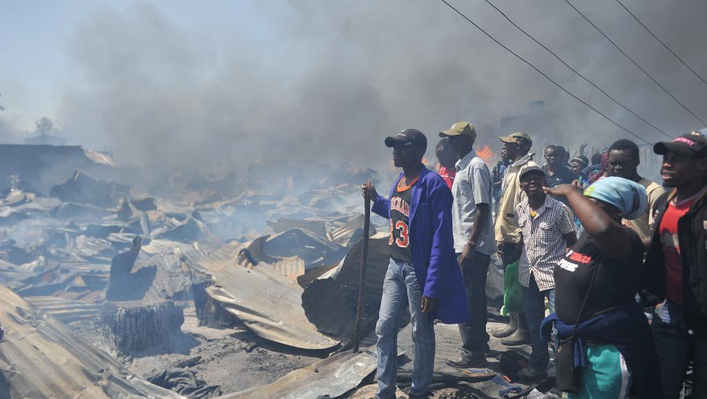 Kenya: un incendie ravage une grande partie du marché de Gikomba à Nairobi