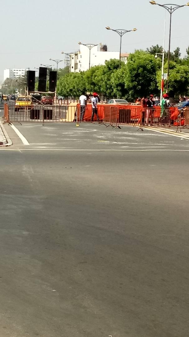 Photo prise à l'instant à rue 25 de la Médina où doit se tenir le rassemblement des khalifistes