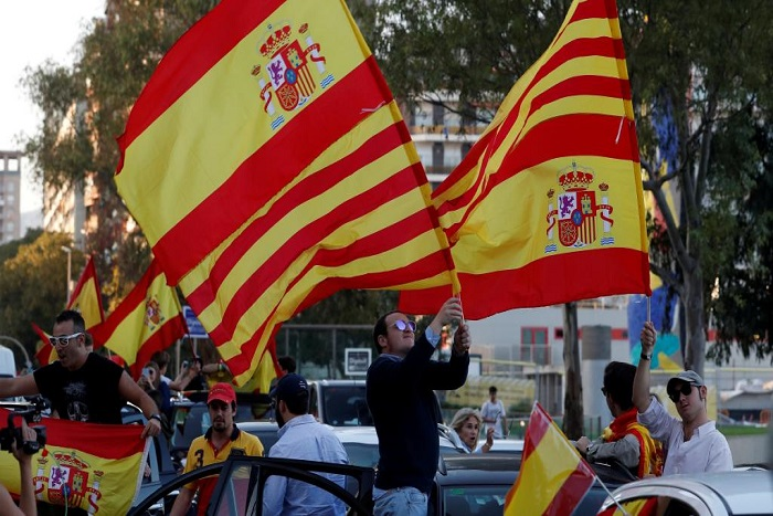 A Barcelone, les partisans de l'unité espagnole se mobilisent à nouveau