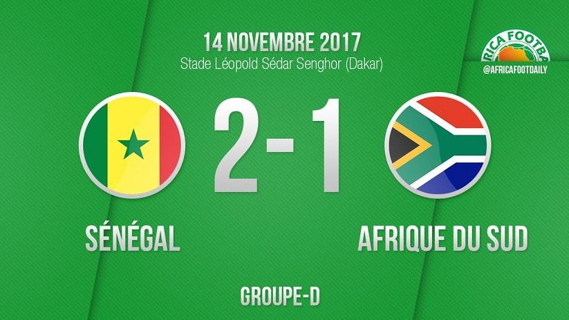 """Sénégal 2 - 1 Afrique du Sud: Kara donne la victoire aux """"Lions"""" et sauve la fête"""