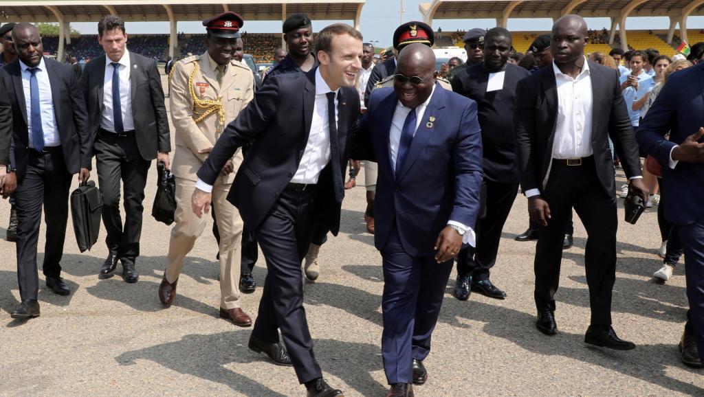 Visite d'Emmanuel Macron au Ghana, une première pour un président français
