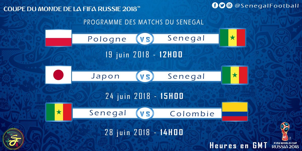 Calendrier Du Mondial.Mondial 1er Tour Calendrier Des Matchs Du Senegal Image
