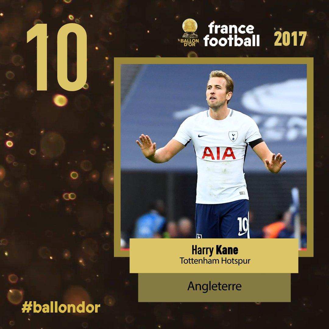 Ballon d'or France Football 2017 : Harry Kane arrive en 10e position