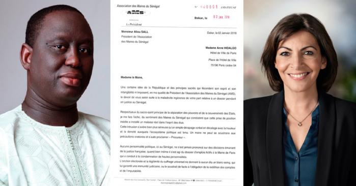 Aliou Sall et l'Association des maires du Sénégal recadrent Anne Hidalgo dans une lettre...