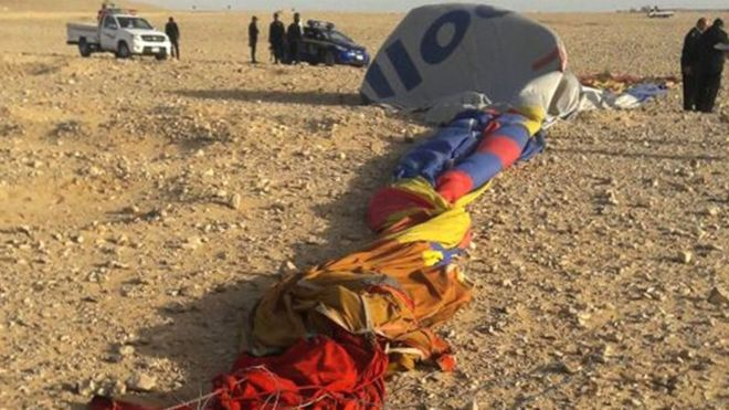 Egypte : un mort dans le crash d'une montgolfière