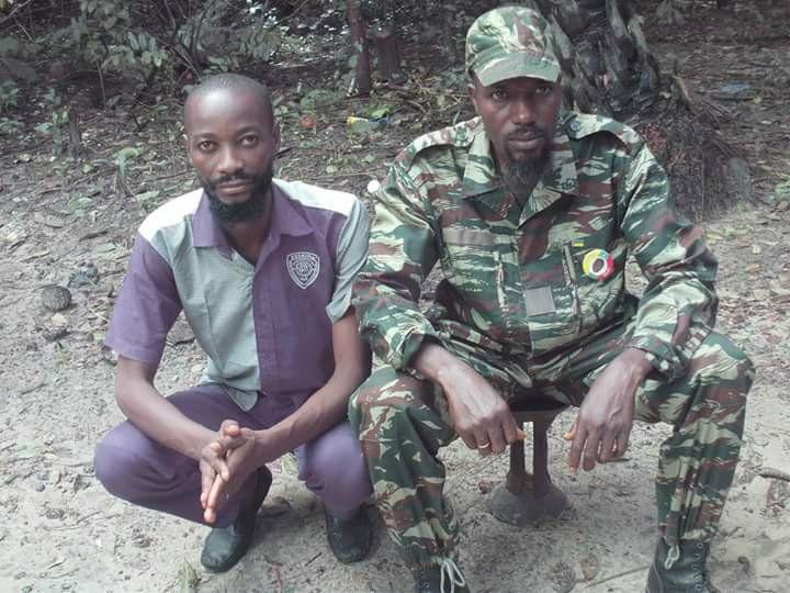 Le chargé de mission du Mfdc Omar Ampoi Bodian en compagnie du chef de la branche Attika Cesar Atoute Badiate