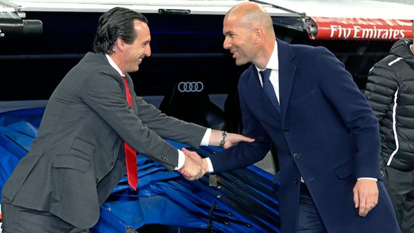 Choc Real Madrid-PSG: Zinedine Zidane et Unai Emery face à leur destin