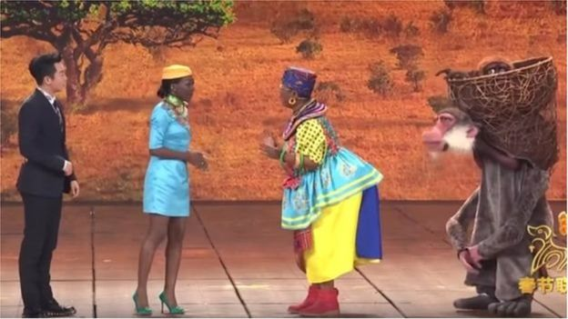 """Chine : un sketch sur l'Afrique jugé """"raciste"""""""