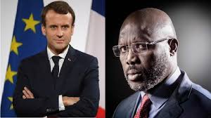 La conférence de presse d'Emmanuel Macron et george Weah