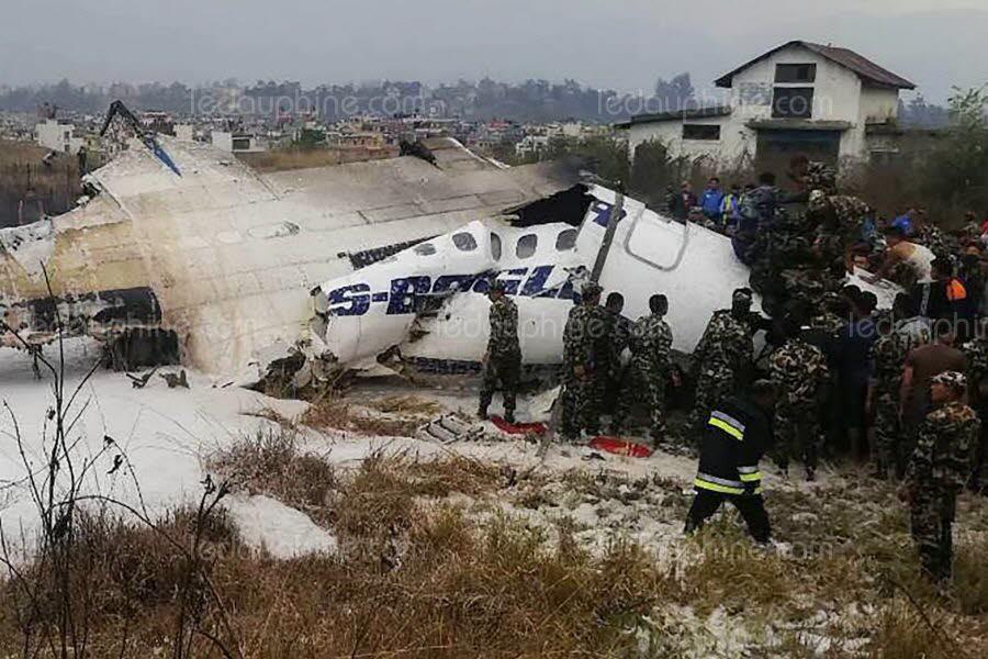  Un avion de ligne s'écrase à Katmandou: au moins 40 morts