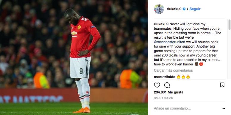 Lukaku s'explique sur le tacle présumé à ses coéquipiers