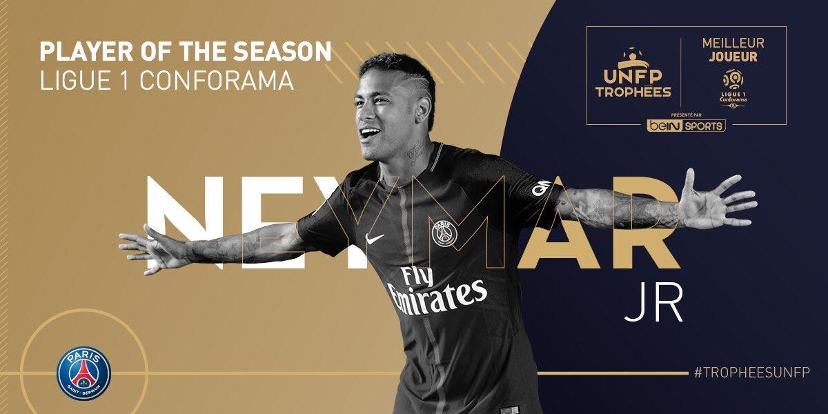 Trophées UNFP : Neymar élu meilleur joueur du Championnat  !