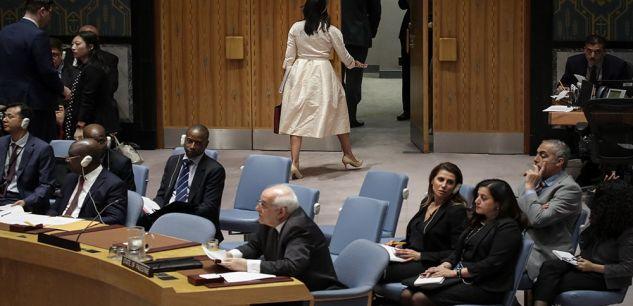 Onu : l'ambassadrice des Usa quitte la salle au moment de l'intervention du représentant palestinien