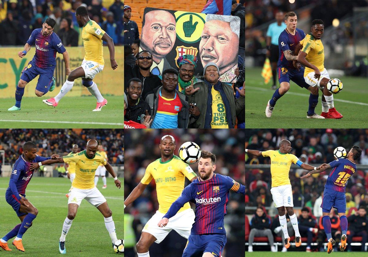 Vidéo : regardez le résumé du match de Mamelodi Sundowns  face au Barcelone (1-3)