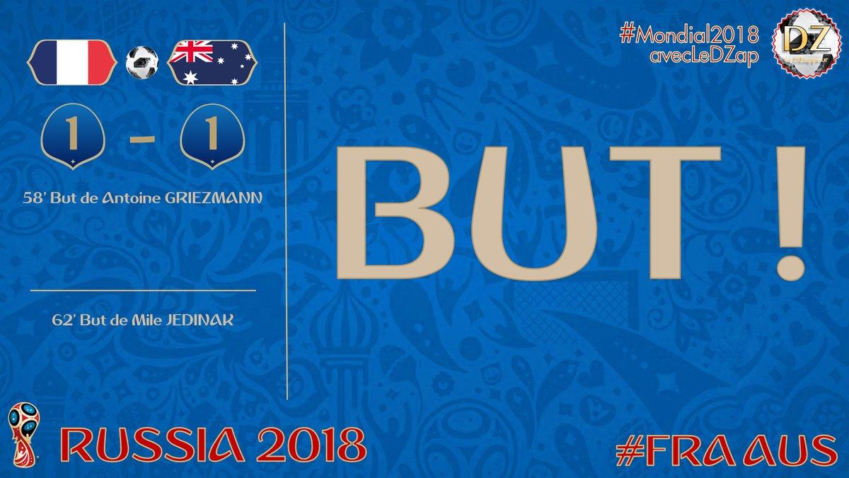 France vs Australie : 1-1