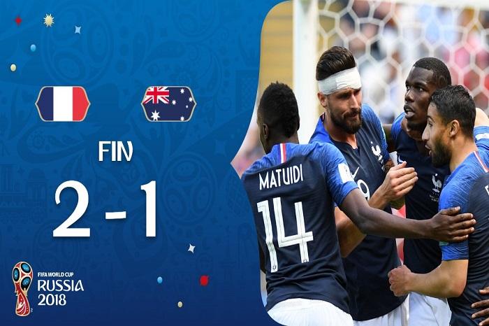 France vs Australie 2-1 (Score final)