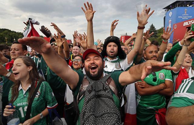 """Vidéo - Les Mexicains fêtent le titre de tombeur du """"champion du monde en titre"""""""