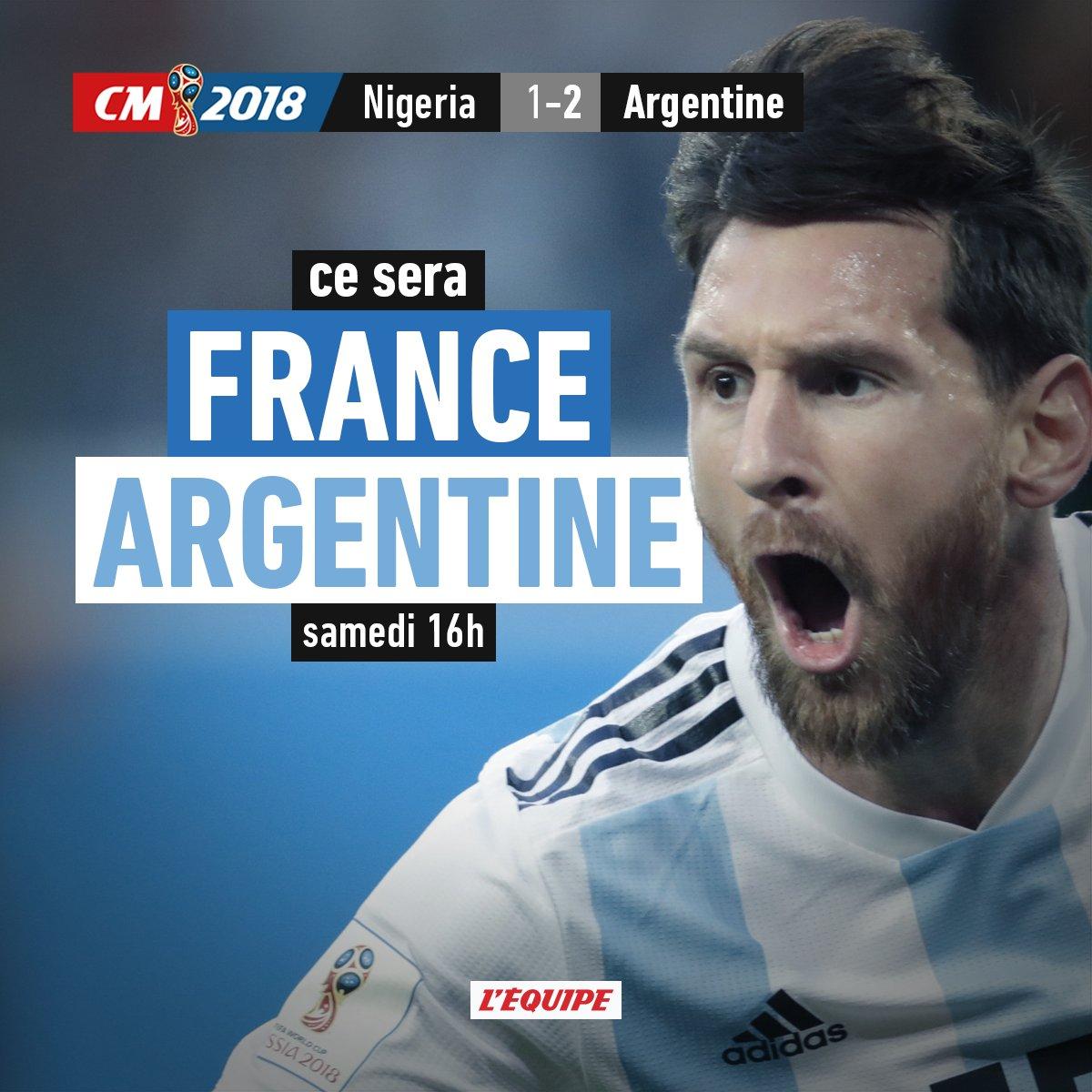 Cruel sort pour le Nigeria : ce sera France-Argentine en 1/8e
