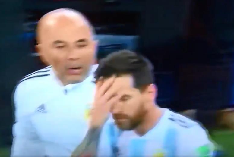 Quand Sampaoli demandait l'avis de Messi pour faire entrer Agüero