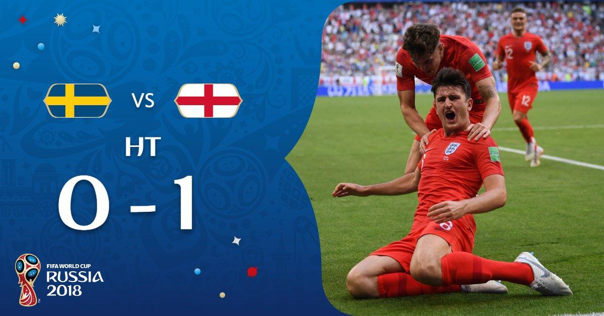 #SWEENG : L'Angleterre mène 1-0 à la mi-temps, Sterling maintient la Suède en vie