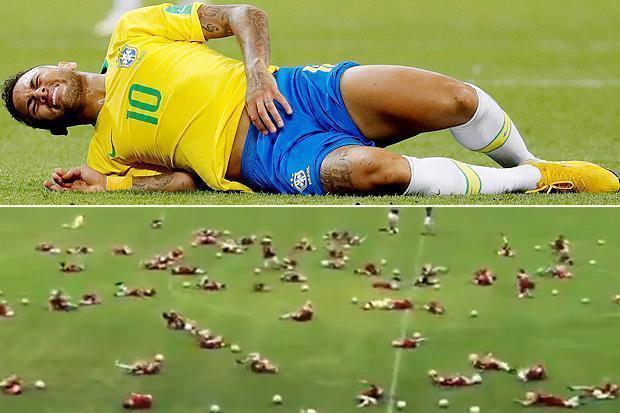 #CM2018- Insolite : le «Neymar challenge», art de se rouler par terre, fait des émules