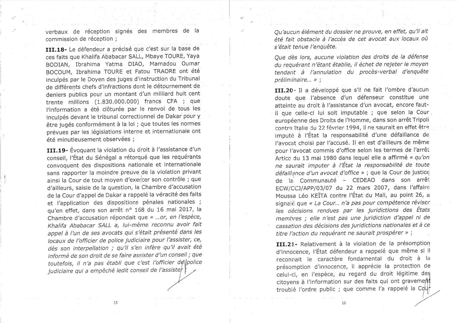 Découvrez l'intégralité de l'arrêt de la Cour de justice de la CEDEAO
