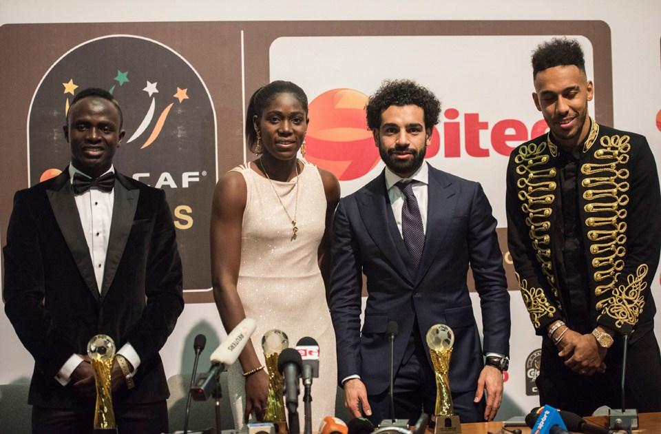 La cérémonie de remise du Ballon d'Or africain à Dakar en janvier 2019