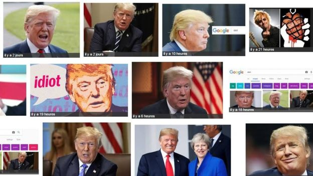 ​Google associe Donald Trump au mot idiot