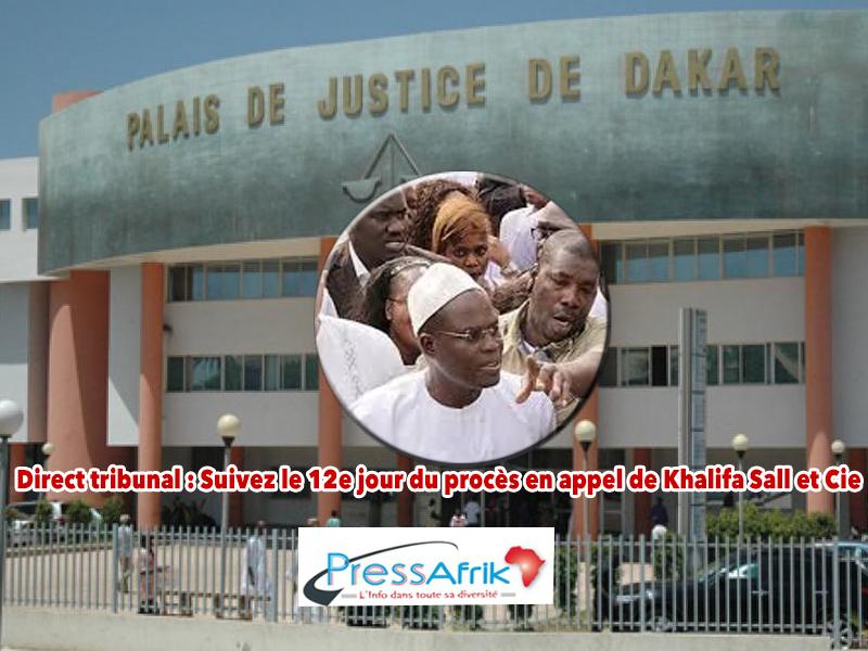 Direct tribunal : Suivez le 12e jour du procès en appel de Khalifa Sall et Cie
