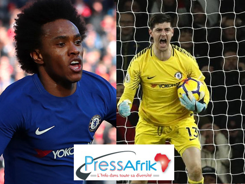 Real : 110 M€ pour le duo Courtois-Willian ?