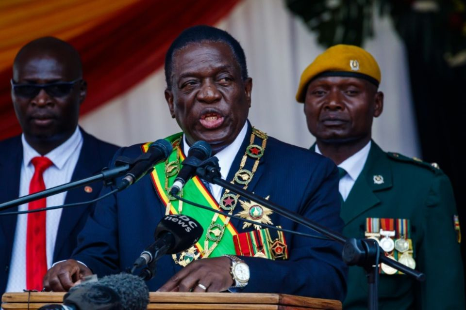 Mnangagwa officiellement investi président du Zimbabwe