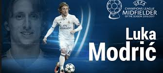 Luka Modric élu meilleur joueur de la saison européenne