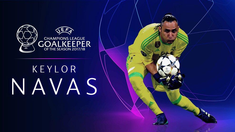 Ligue des Champions : Keylor Navas est élu meilleur gardien de la saison 2017/2018