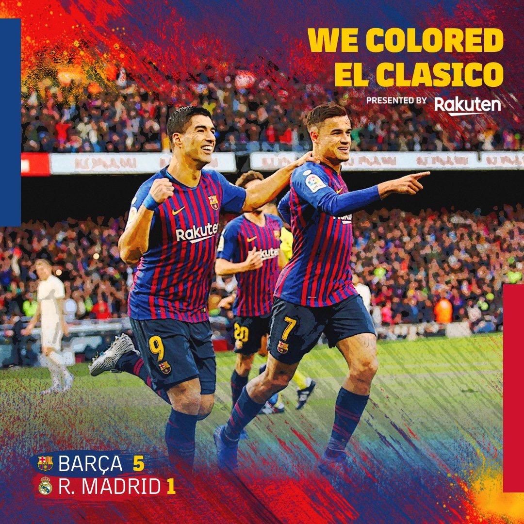 #BARREA : Le Réal Madrid prend une «manita» au Camp Nou (5-1)