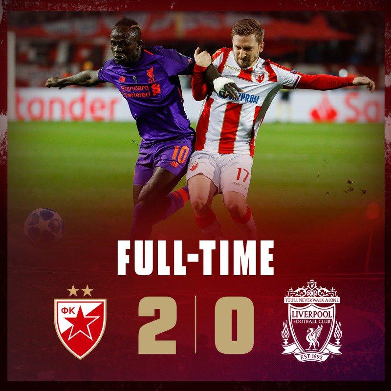 #LigueDesChampions : Sadio Mané et Liverpool s'inclinent à Belgrade et relancent complètement le groupe C