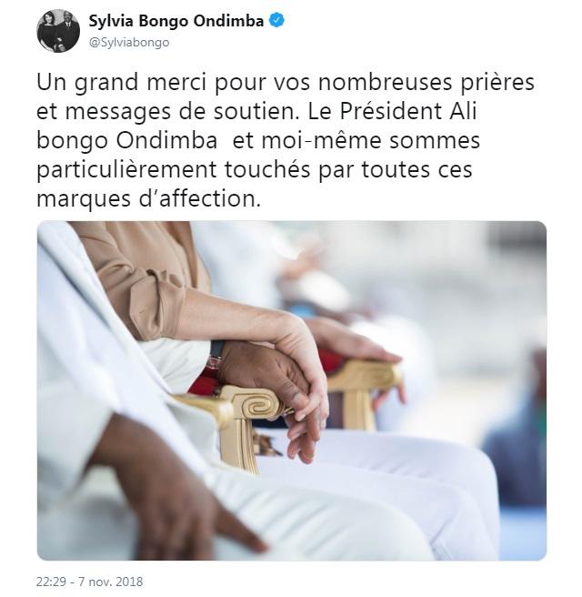 Gabon: la première dame, Sylvia Bongo, s'exprime pour la première fois depuis l'hospitalisation du président Ali Bongo