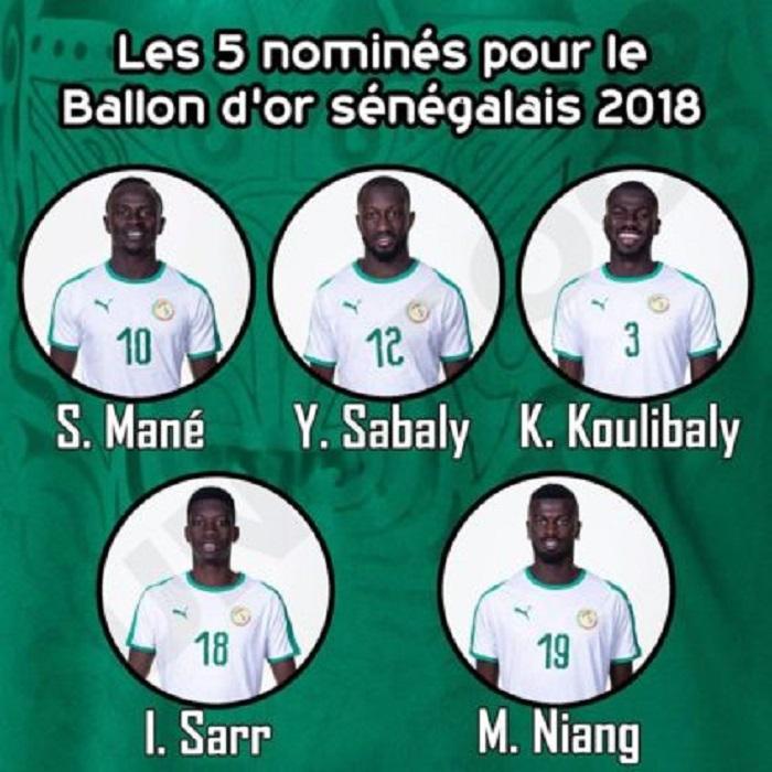 """#Ballon d'Or Sénégalais: voici la liste des 5 """"lions"""" nominés"""