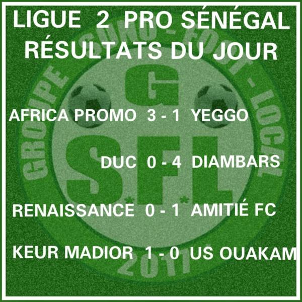 Ligue2- 3e journée : Diambar corrige DUC, Africa Promo Foot et Amitié s'imposent également