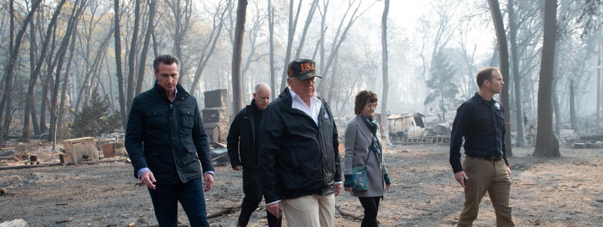 """Incendies en Californie : """"Donald Trump pense comme un enfant de 8 ans !"""""""