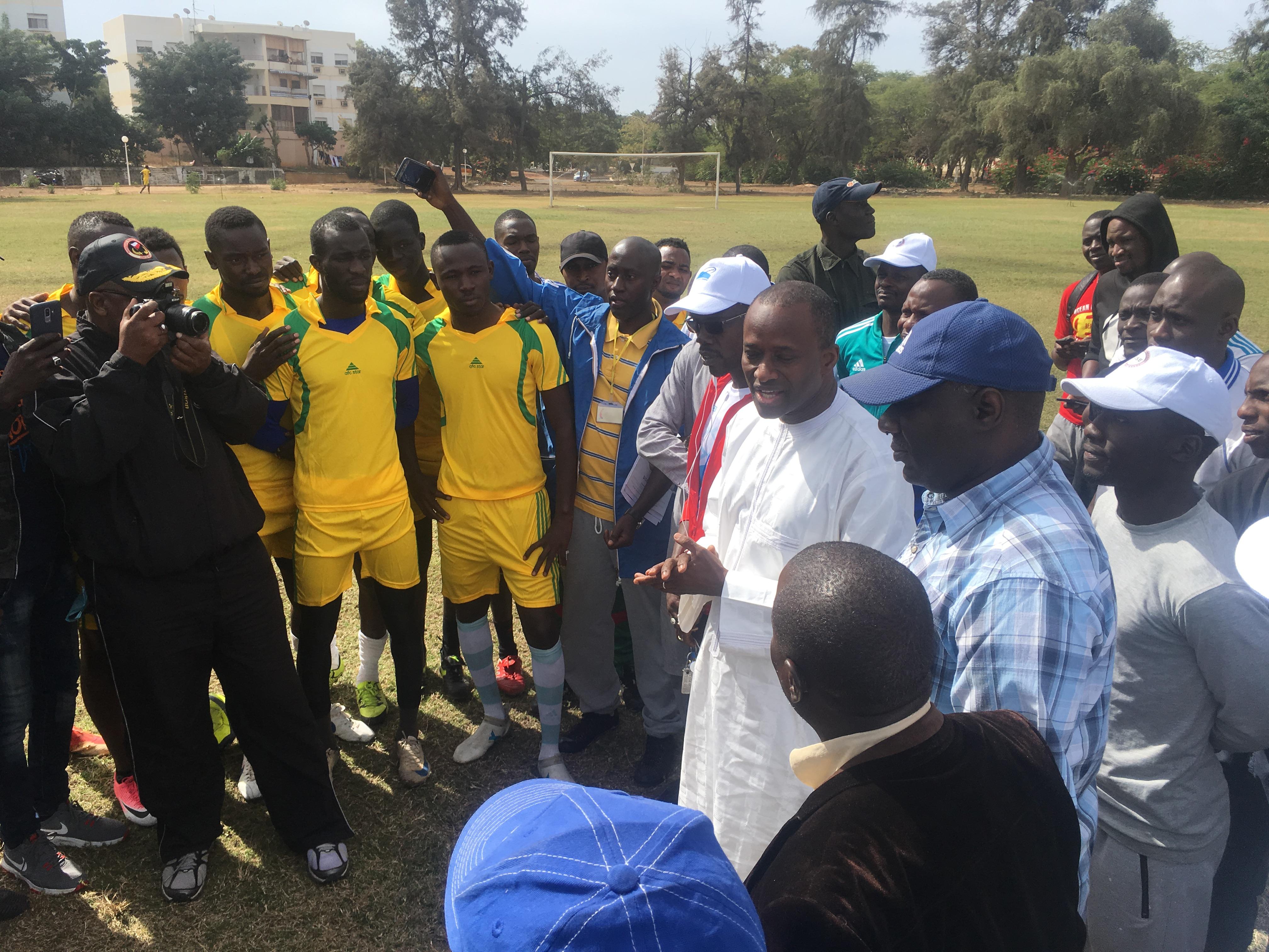 Le Directeur général du Port Aboubacar Sadikh Beye, lors du lancement du tournoi de Football des acteurs portuaires