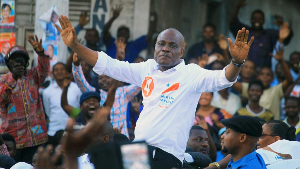 RDC: Martin Fayulu, le candidat de la coalition Lamuka, en meeting à Goma