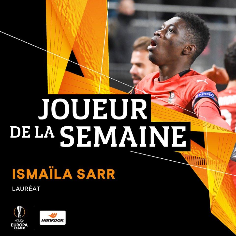 Europa League : Ismaila Sarr élu joueur de la semaine