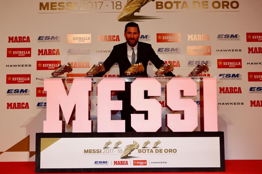 Messi remporte son 5e Soulier d'Or européen