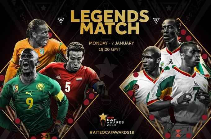 CAF Awards-Match légende: Sénégal 2002 vs Drogba, Eto'o et Weah ce lundi à Dakar