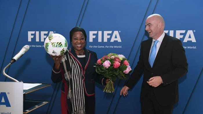 CAF Awards : Infantino et Fatma Samoura à Dakar