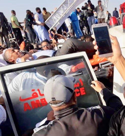 Mauritanie: Une Tribune chute pendant le discours du président Aziz