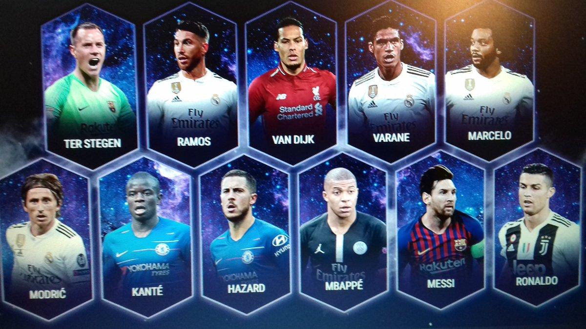 Le Onze Type de l'Année 2018 de l'UEFA