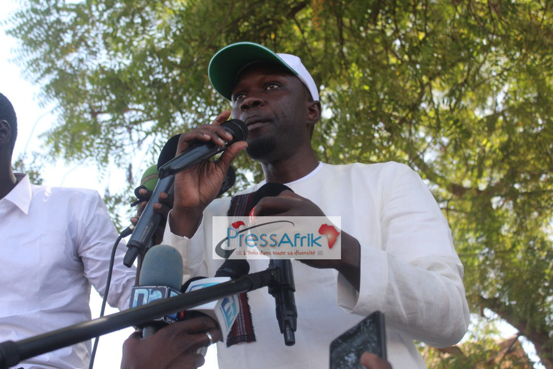 """#Présidentielle2019:  A Koungheul, Ousmane Sonko jure d'en finir avec """"le système corrompu"""""""