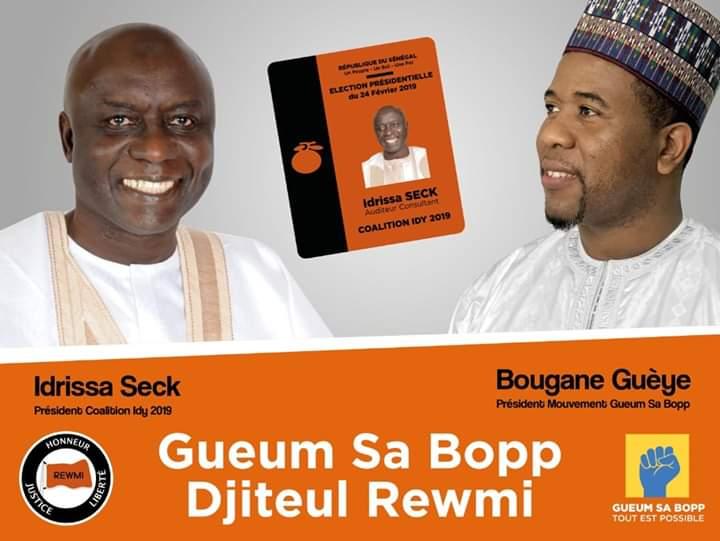 Bougane Gueye Dany a rejoint Idy