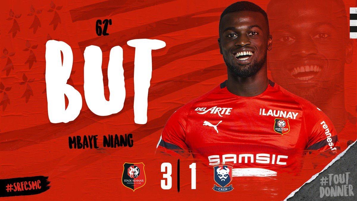 Rennes-Caen: Ismaila Sarr délivre deux passes décisives en 5 minutes dont une pour Mbaye Niang